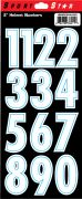 "2"" Numbers — White"