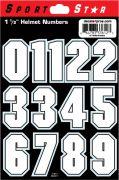 "1 1/2"" Block Numbers — White"