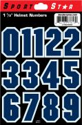 "1 1/2"" Block Numbers - Navy"