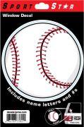 Window Decal Baseball