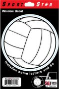Window Decal Volleyball