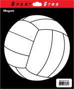 Car Magnet Volleyball