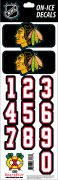 NHL Chicago Blackhawks Decals - Black