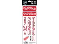 NHL Detroit Red Wings Decals — Red