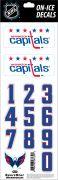 NHL Washington Capitals Decals - White Helmet (Retro)