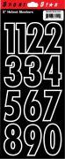 """2"""" Numbers — Black"""