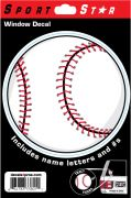 Window Decal Baseball