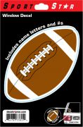 Window Decal Football