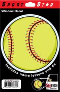 Window Decal Softball