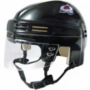 Colorado Avalanche Mini Helmet — Black