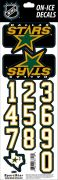 NHL Dallas Stars Decals — Black (Retro)