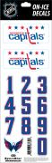 NHL Washington Capitals Decals — White Helmet (Retro)