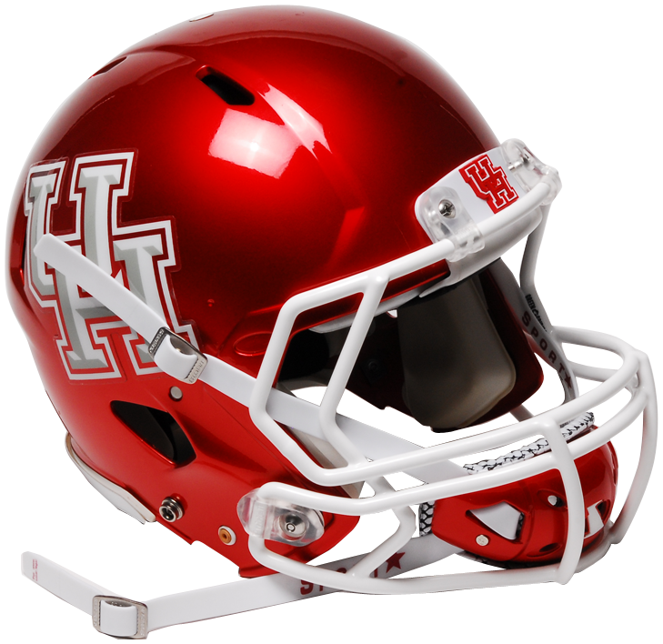 UH Football Helmet with Chinstrap